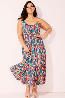 Sara Crinkle Maxi Dress - 252647