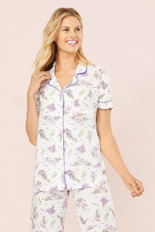 Mia Lucce Short Sleeve PJ Top - 252665