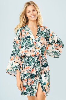 Mia Lucce Allover Printed Robe - 252667