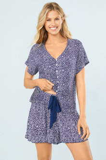 Mia Lucce Button Up PJ Top - 252673