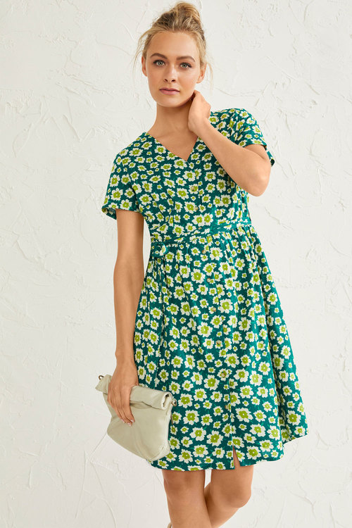 Emerge Belted Shirt Dress