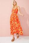 Emerge Button Front Maxi Dress
