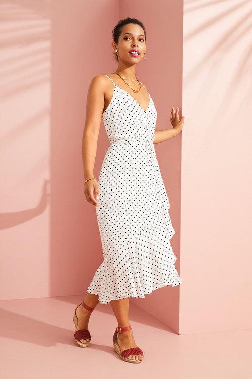 Emerge Ruffle Wrap Midi Dress