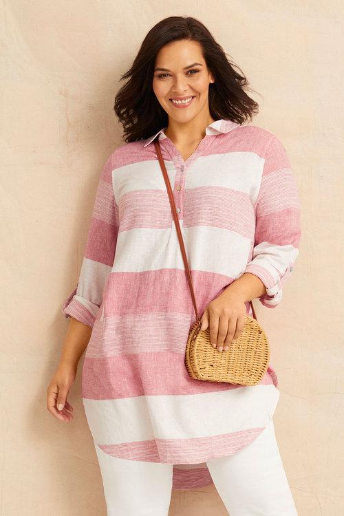 Sara Longline Linen Shirt