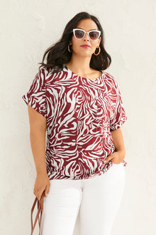 Sara Linen Pocket Shell Top - 252745