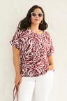 Sara Linen Pocket Shell Top