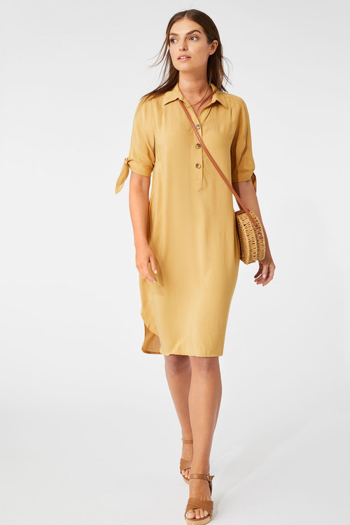 Capture Tie Sleeve Dress