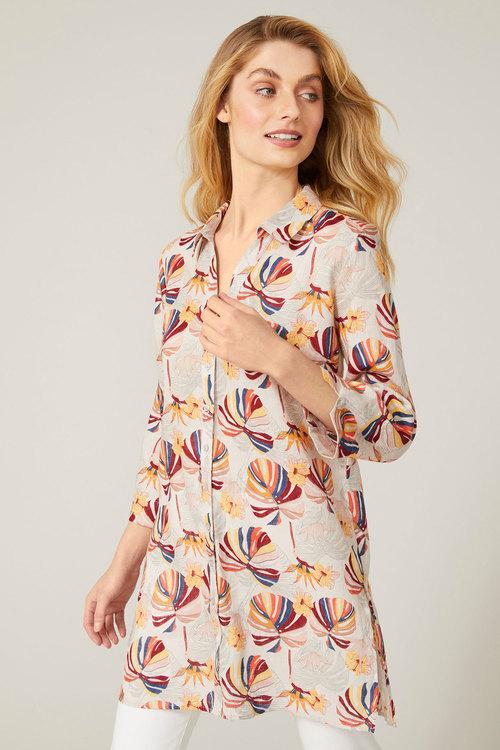 Capture Linen Longline Shirt
