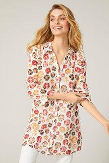 Capture Linen Longline Shirt - 252776