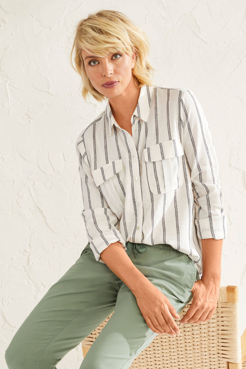 Capture Linen Blend Patch Pocket Shirt