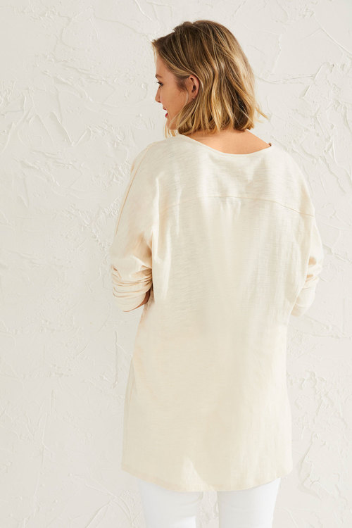 Capture Cotton Slub Batwing Cover Up
