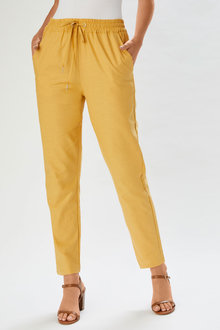 Capture Linen Cuffed Pant - 252780