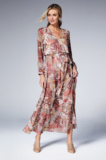 Kaleidoscope Paisley Maxi Dress - 252852