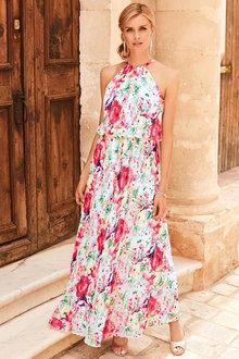 Kaleidoscope Pleated Maxi Dress - 252857