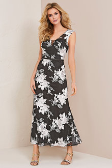 Kaleidoscope Lace Embroidered Maxi Dress - 252862
