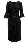 Kaleidoscope Devore Flute Sleeve Dress