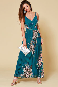 Kaleidoscope Pleated Maxi Dress - 252873