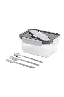 Built NY Gourmet Glass Bento Lunch Box with Utensils