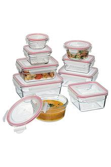 Glasslock 9 Piece Oven Safe Glass Container Set - 252894