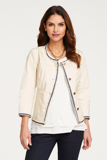Heine Denim Jacket with Fringes - 252898