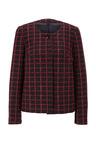 Heine Black & Red Boucle Blazer