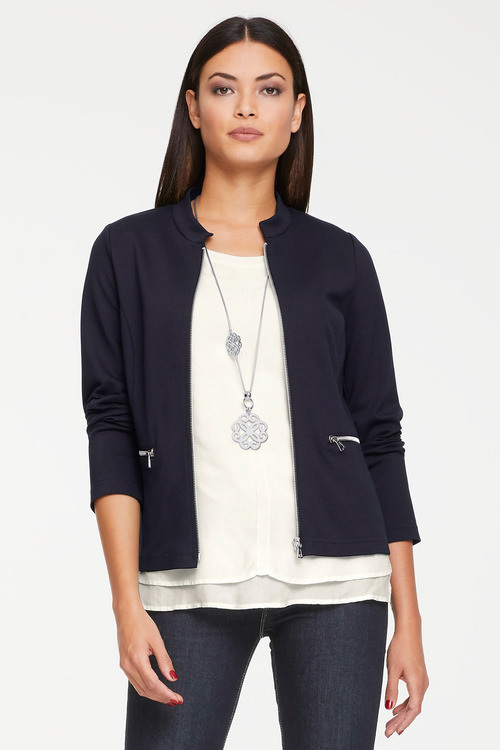 Heine Jersery Fabric Zip Jacket