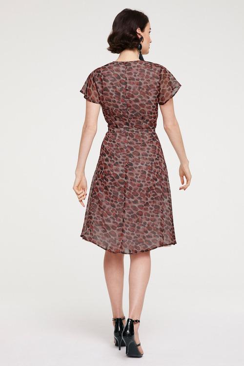 Heine Print Dress withTie Belt