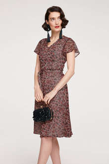 Heine Print Dress withTie Belt - 252912