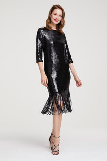 Heine Cocktail Dress with Fringes - 252921