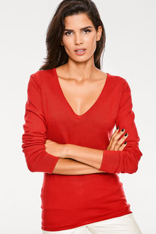 Heine V Neck Long Sleeve Jumper - 252923