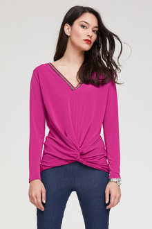 Heine Knot Detail Long Sleeved Top - 252926