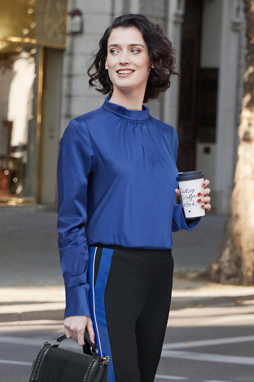 Heine Blouse With Stand Up Collar