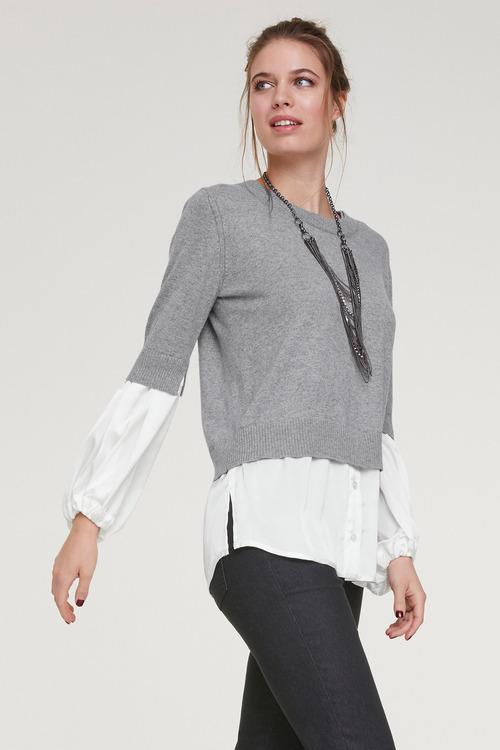 Heine Jumper with embellished Sleeve