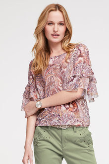 Heine Printed Top Ruffled Sleeves - 252948