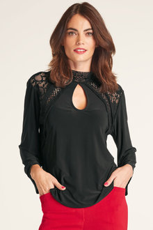 Heine 3/4 Wide Sleeve Lace Top - 252949