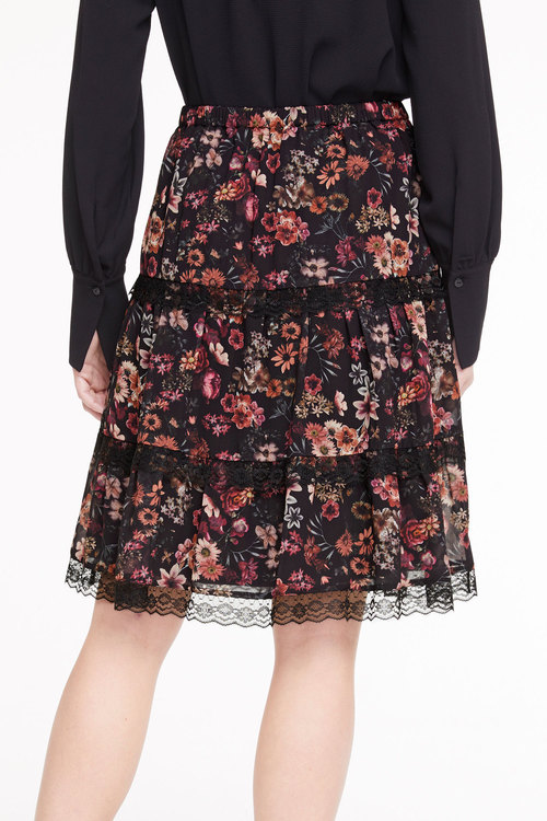 Heine Printed Skirt With Lace
