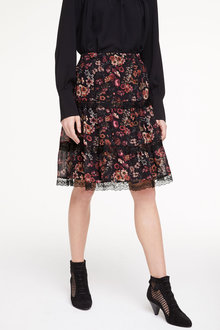 Heine Printed Skirt With Lace - 252962
