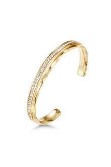 Mestige Golden Audrina Bangle with Swarovski Crystals - 252971