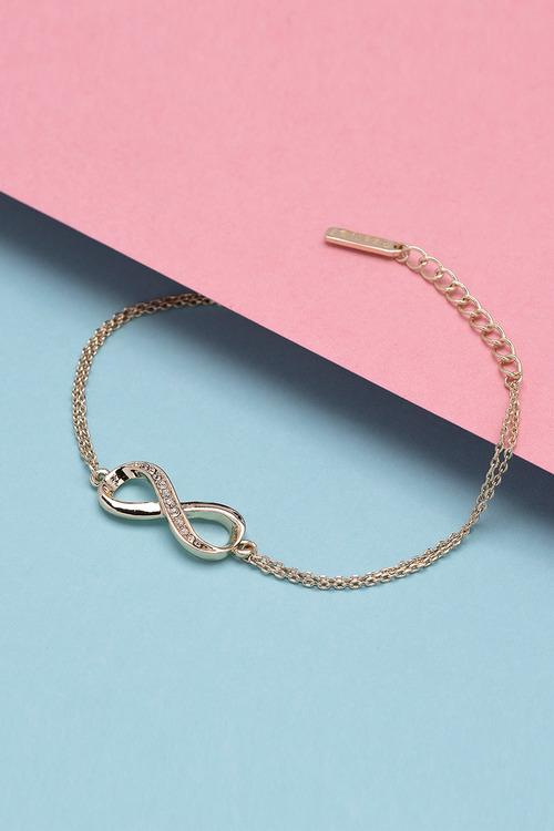 Mestige Gold Infinitely Yours Bracelet with Swarovski