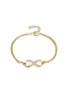 Mestige Gold Infinitely Yours Bracelet with Swarovski - 252972