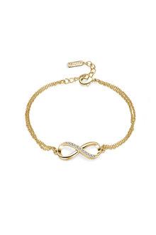 Mestige Gold Infinitely Yours Bracelet with Swarovski - 252972