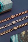 Mestige Gold Shimmer Bracelet with Swarovski Crystals