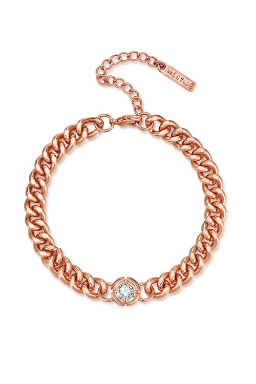 Mestige Rose Gold Shimmer Bracelet with Swarovski Crystals