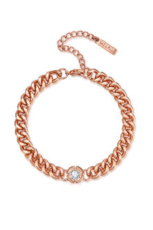 Mestige Rose Gold Shimmer Bracelet with Swarovski Crystals - 252975