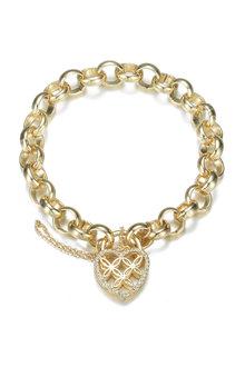 Mestige Golden Sweetheart Bracelet with Swarovski Crystals