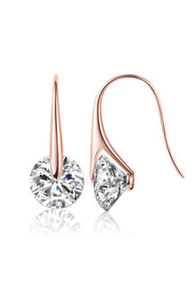 Mestige Rose Gold Eclipse Earrings with Swarovski Crystals - 252986