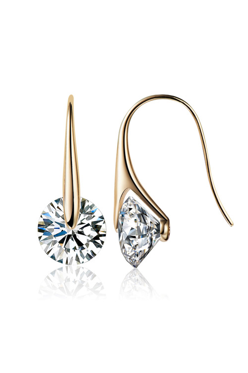 Mestige Gold Eclipse Earrings with Swarovski Crystals