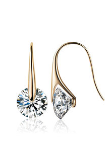 Mestige Gold Eclipse Earrings with Swarovski Crystals - 252987