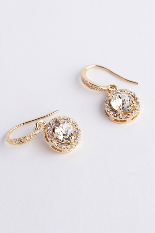 Mestige Gold Liberty Earrings with Swarovski Crystals