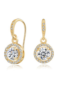 Mestige Gold Liberty Earrings with Swarovski Crystals - 252991